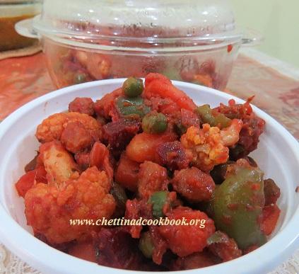 கூட்டுக்காய் பிரட்டல்/ Mixed Vegetable Masala